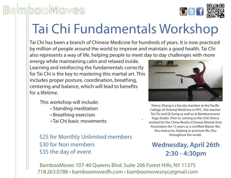 Bamboo Moves Corporate | Tai Chi Fundamentals Workshop